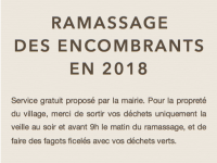 Ramassage des encombrants